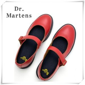 NWOT Dr.Martens Indica Mary Jane Shoes Red AW004
